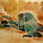 Achill weint um Patroklos 1977 - Aquarell auf Bütten