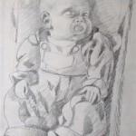 Alexander schlafend Bleistift 1992