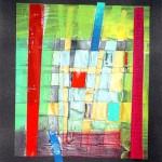 Die  Säulen des Herakles 2007 - Collage mit Acryl