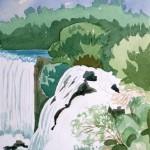 Düden Wasserfälle Antalya 1988 Aquarell auf Bütten 24x32cm