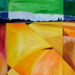 Herbstliche Felder 2005 Öl auf Leinwand 50x70 cm