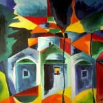 Kapellen auf Skopelos 1991 Öl auf Leinwand
