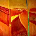Landschaft im Sommer 2004 - Öl  auf Leinwand