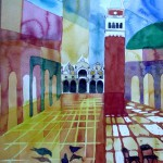 Marcusplatz mit San Marco und Campanile Venedig