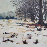 Park im Winter 1986 Öl auf Leinwand