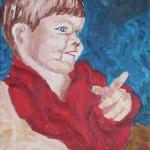 Philipp 3 Jahre 1986 - Öl auf Leinwand