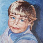 Philipp Portrait 1986 - Öl auf Leinwand