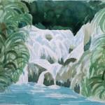 Plitvice Wasserfälle 1977 - Aquarell auf Bütten
