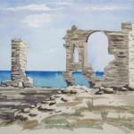 Ruine Pythagoreion Samos 1986 Aquarell auf Bütten