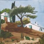 Samos im Gebirge 1983 -Aquarell auf Bütten