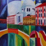 Santa Maria della Salute Venedig 2007 Öl auf Leinwand