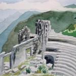 Theater von Termessos 1988 Aquarell auf Bütten 25x36cm