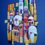 Torres 2006 Collage und Aquarell auf Bütten 25x36cm
