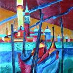 Venedig 1994 Öl auf Leinwand