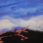 Vulkan Coracon Kolumbien 2007 Aquarell auf Bütten