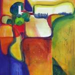 Wege im Herbst 10-2006 Aquarell und Wachskreiden 1