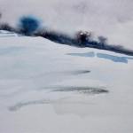Winterlandschaft I 1993 Aquarell auf Bütten 16,5x24cm
