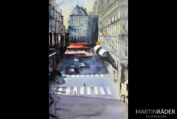 Paris Lafayette - Juli 2017 - Aquarell auf Bütten