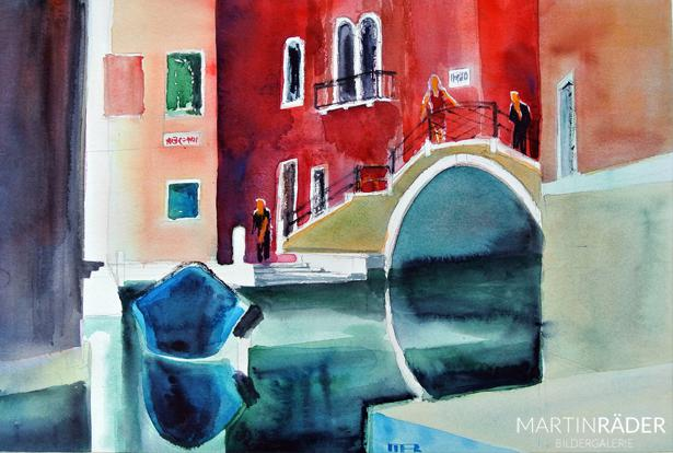 Lost emotions Venice  9 2016 Aquarell auf Bütten