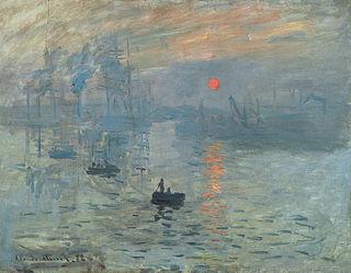 Claude Monet - Impression soleil levant - 1872 Öl auf Leinwand