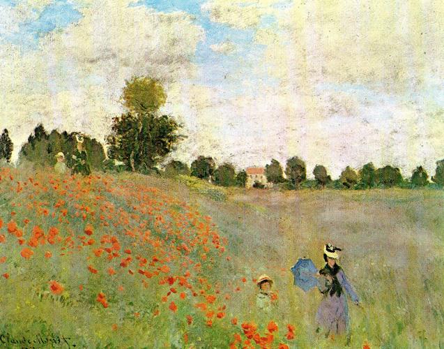 Claude Monet - Mohnblumen - 1873 Öl auf Leinwand