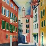 Venedig Erinnerungen an 2006 Aug.2011 - Aquarell auf Bütten