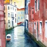 Venedig Calle del Rimedio Aug.2011 - Aquarell auf Bütten