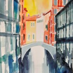 Brücken und Kanäle Venedig Nov.2012 - Aquarell auf Bütten