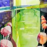 Der gelbe Riss Sept.2012 - Aquarell auf Bütten