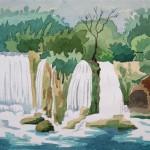 Düden Wasserfälle bei Antalya 1988 Aquarell auf Bütten 24x32cm