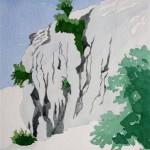 Felsformation bei Pamukkale Türkei 1988 Aquarell auf Bütten 24x32cm