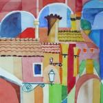 Ferrara Collage 2004-2005 Aquarell auf Bütten 22x24cm
