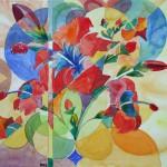 Hibiscusblüten 1995 Aquarell auf Bütten 24x26cm