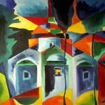 Kapellen auf Skopelos 1991 - Öl auf Leinwand