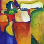 Landschafts abstraktionen 2006 Aquarell auf Bütten 30x40cm