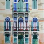 Palazzo Fassade Venedig 2007 Aquarell auf Bütten