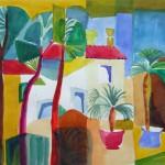 Palmenvilla 2007 Aquarell auf Bütten 30x39cm