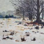 Park im Winter 1986 - Öl auf Leinwand