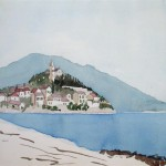Primosten Kroatien 1977 - Aquarell auf Bütten