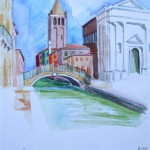 San Barnaba Dorsoduro Venezia 2005 Aquarell und Buntstifte auf Bütten 22x28cm