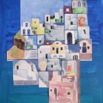 Santorini die Schoene III 2008 Aquarell und Buntstifte auf Bütten 30x40cm