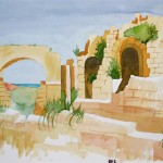 Side Amphitheater 1990 Aquarell auf Bütten 24x32cm