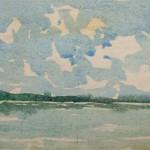 Starnberger See 1982 - Aquarell auf Bütten