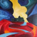 Suche und Hoffnung 1991 - Öl auf Leinwand