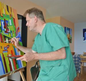 Martin Räder bei der Arbeit