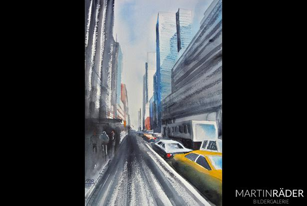 New York never Sun - Juli 2017 - Aquarell auf Bütten