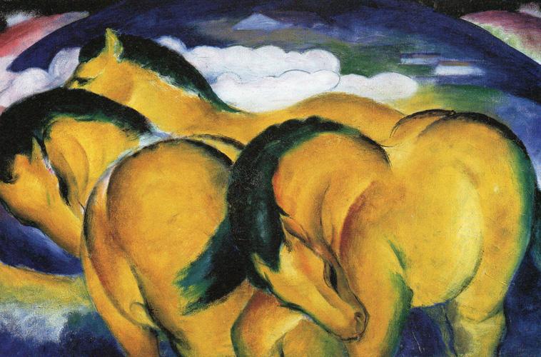 Franz Marc - Die kleinen gelben Pferde - 1912 Öl auf Leinwand