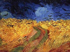 Vincent van Gogh - Weizenfeld mit Kornähren - Auvers sur Oise Juli 1890 - Öl auf Leinwand