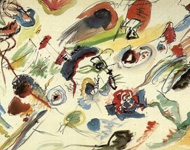 Wassily Kandinsky - Aquarell ohne Titel 1910 - erstes abstraktes Bild