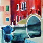 Lost emotions Venice 9 2016 Aquarell auf Bütten 36x55 cm